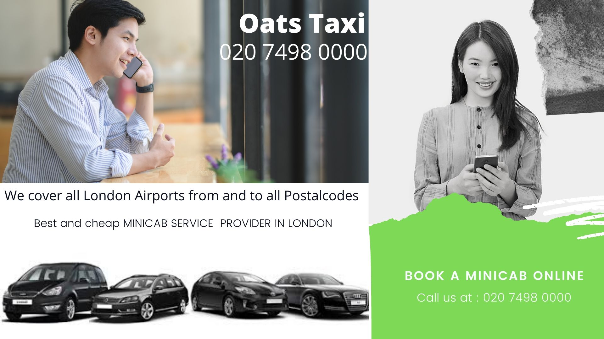 Nearest Taxi Office in Clapham Park | Nearest Taxi Office in Gatwick Airport | Call now : 02074980000